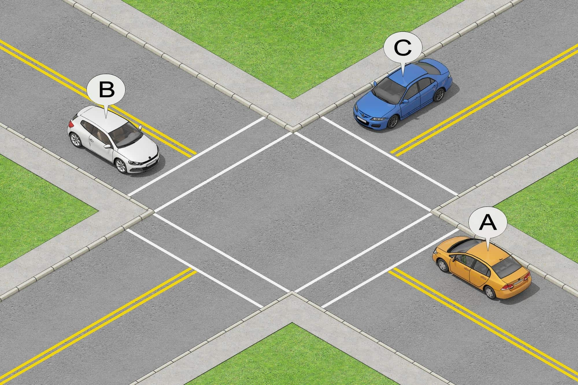 HOW SHOULD YOU PROCEED AT UNCONTROLLED INTERSECTIONS